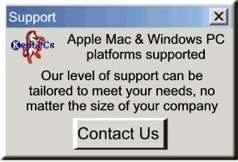 Expert support for mainstream software on PC's, Macintosh's and File Servers.